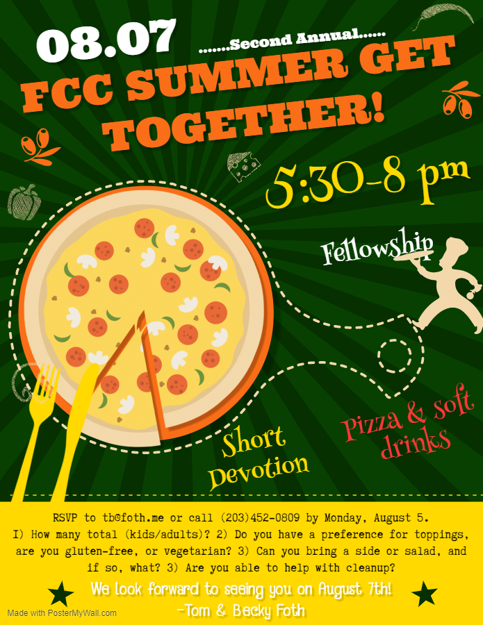 FCC Summer Get Together 2019 - Made with PosterMyWall
