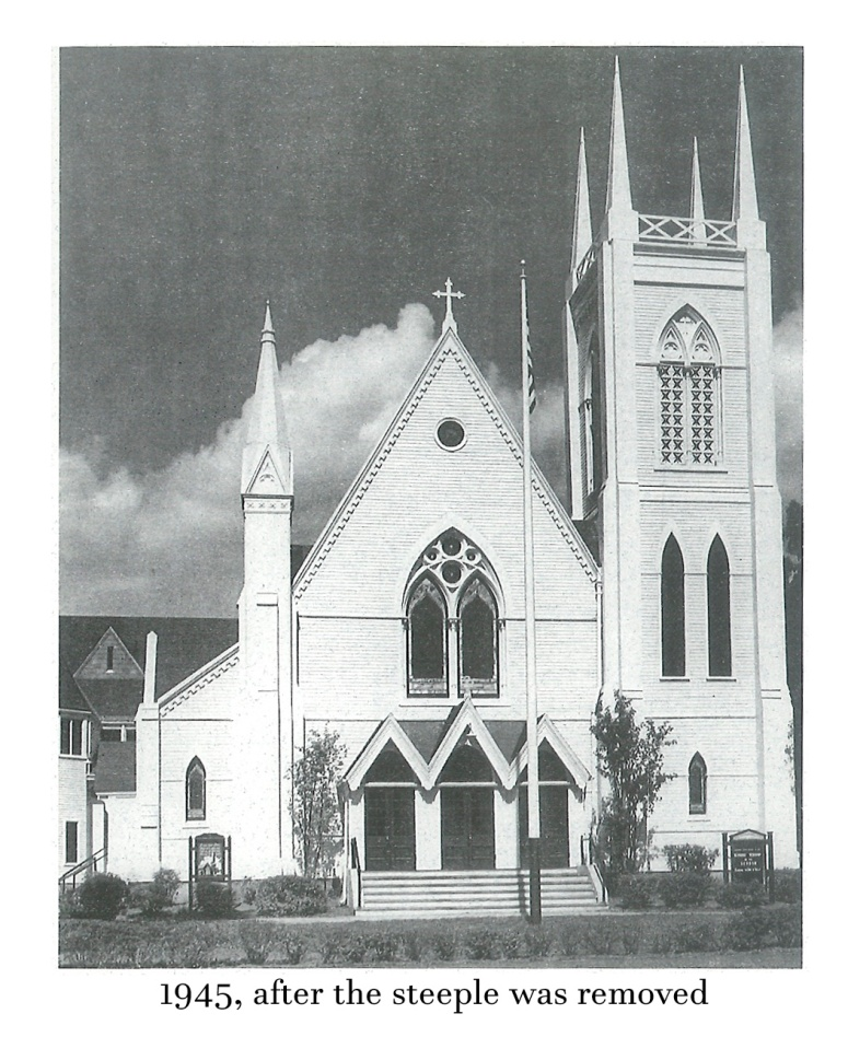 1945 after steeple was removed